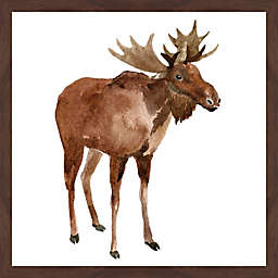 Marmont Hill Moose Stance 18-Inch x 18-Inch Framed Wall Art