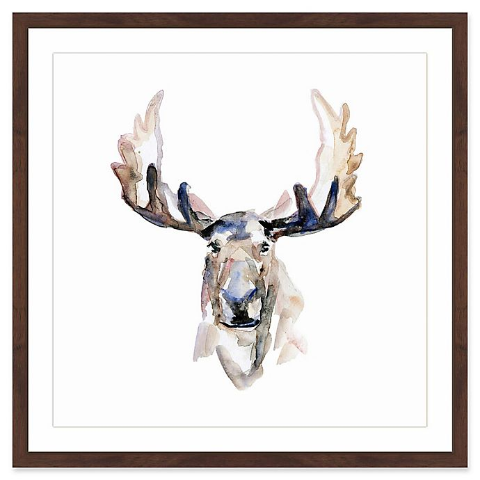 Alternate image 1 for Marmont Hill Moose Paint 12-Inch x 18-Inch Framed Wall Art