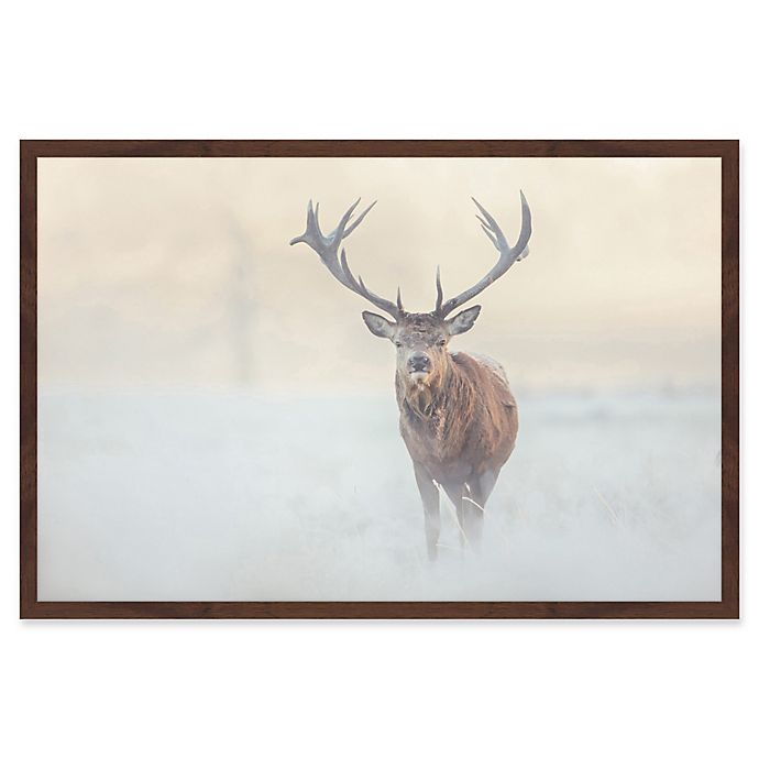 Alternate image 1 for Marmont Hill The Lone Buck 12-Inch x 18-Inch Framed Wall Art