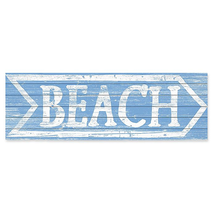 Alternate image 1 for Marmont Hill This Way to the Beach 20-Inch x 60-Inch Wooden Wall Art
