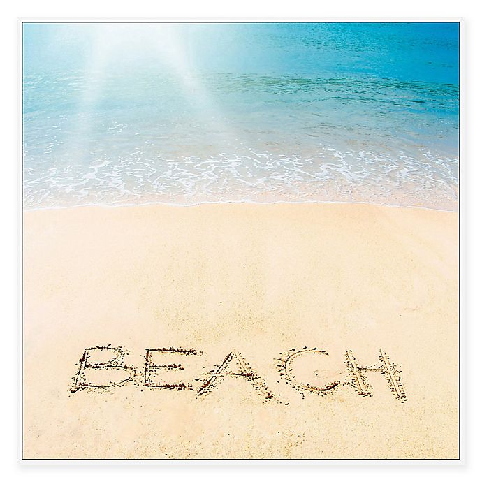 Alternate image 1 for Marmont Hill Sandy Beach 12-Inch Square Framed Wall Art