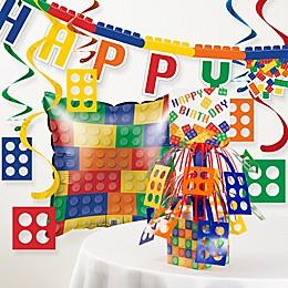 Creative Converting Building Blocks Party Birthday Decor Kit