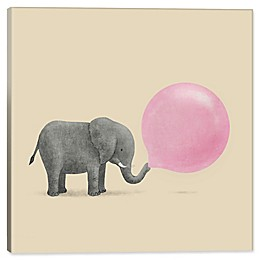 iCanvas Terry Fan Jumbo Bubble Gum 12-Inch Square Canvas Wall Art