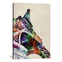 """iCanvas """"Eiffel Tower"""" 12-Inch x 18-Inch Canvas Wall Art"""