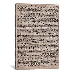 """iCanvas """"Sheet Music Ode to Joy"""" Extra-Deep 12-Inch x 18-Inch Canvas Wall Art"""