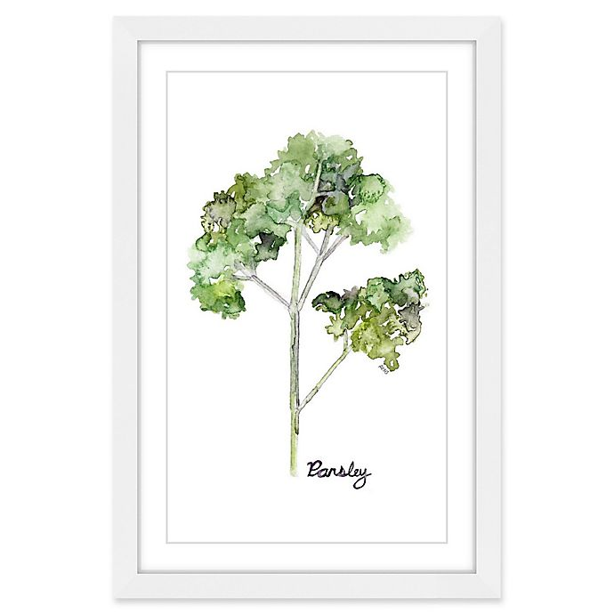 Alternate image 1 for Marmont Hill Herb Parsley 40-Inch x 60-Inch Framed Wall Art