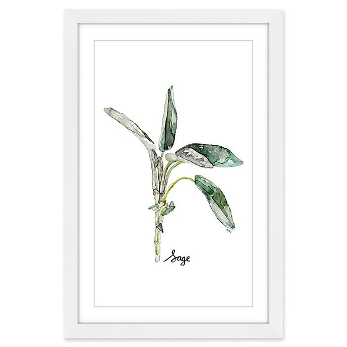 Alternate image 1 for Marmont Hill Herb Sage 16-Inch x 24-Inch Framed Wall Art