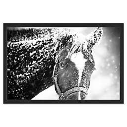 Marmont Hill White Horse Mask Framed Wall Art