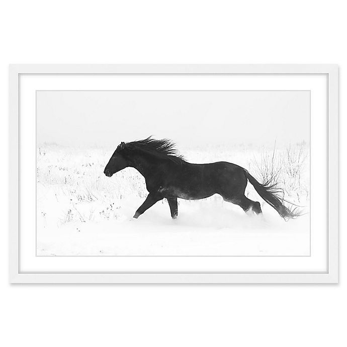 Alternate image 1 for Marmont Hill Jet Black 12-Inch x 18-Inch Framed Wall Art