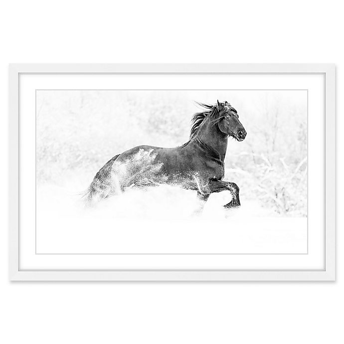 Alternate image 1 for Marmont Hill Horse Excitement 24-Inch x 16-Inch Framed Wall Art