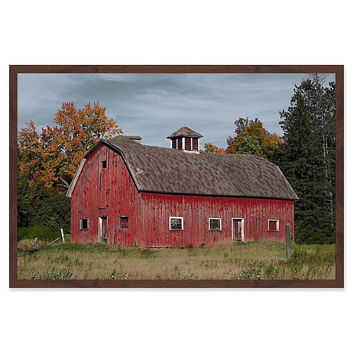 Alternate image 1 for Marmont Hill Iconic Red 30-Inch x 20-Inch Framed Wall Art
