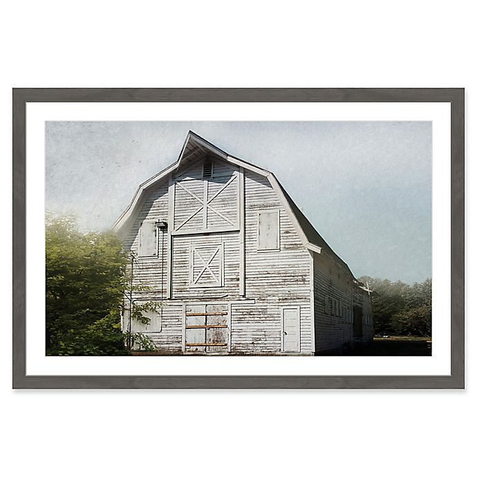 Alternate image 1 for Marmont Hill Iconic White 30-Inch x 20-Inch Framed Wall Art