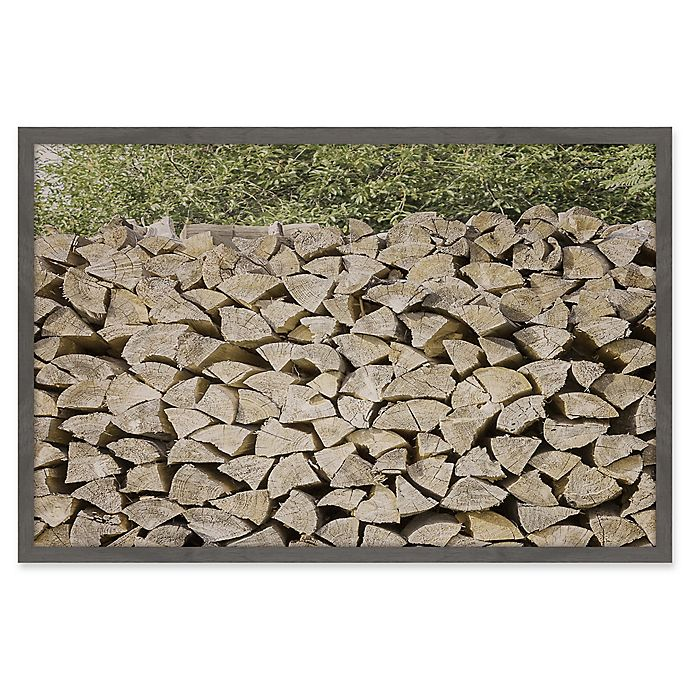 Alternate image 1 for Marmont Hill Woodpile Framed 18-Inch x 12-Inch Wall Art