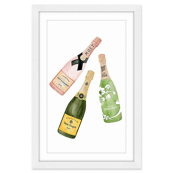 Alternate image 1 for Marmont Hill Champagne Please 12-Inch x 18-Inch Framed Wall Art