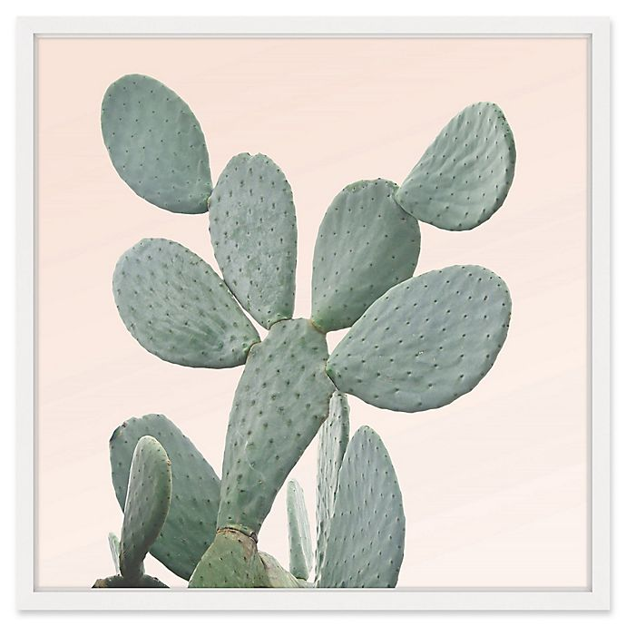 Alternate image 1 for Marmont Hill Lone Cactus 2 32-Inch Square Framed Wall Art
