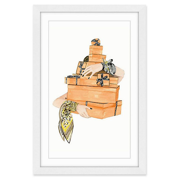 Alternate image 1 for Marmont Hill Orange Boxes 36-Inch x 24-Inch Wall Art