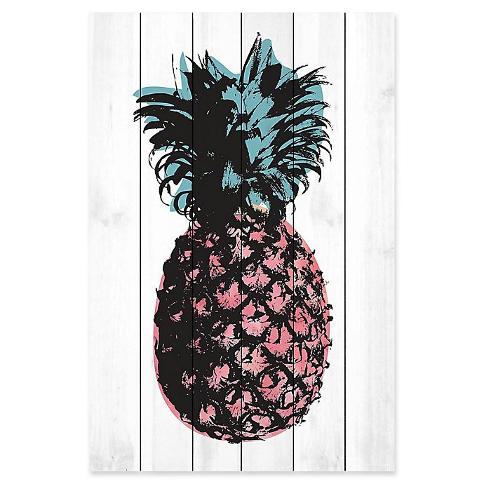 Alternate image 1 for Marmont Hill Pineapple 16-Inch x 24-Inch Wood Wall Art
