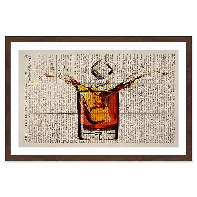 Alternate image 1 for Marmont Hill Liquor Splash 24-Inch x 36-Inch Framed Wall Art