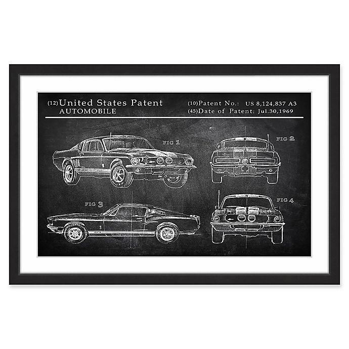 Alternate image 1 for Marmont Hill Mustang Shelby Design 36-Inch x 24-Inch Framed Wall Art