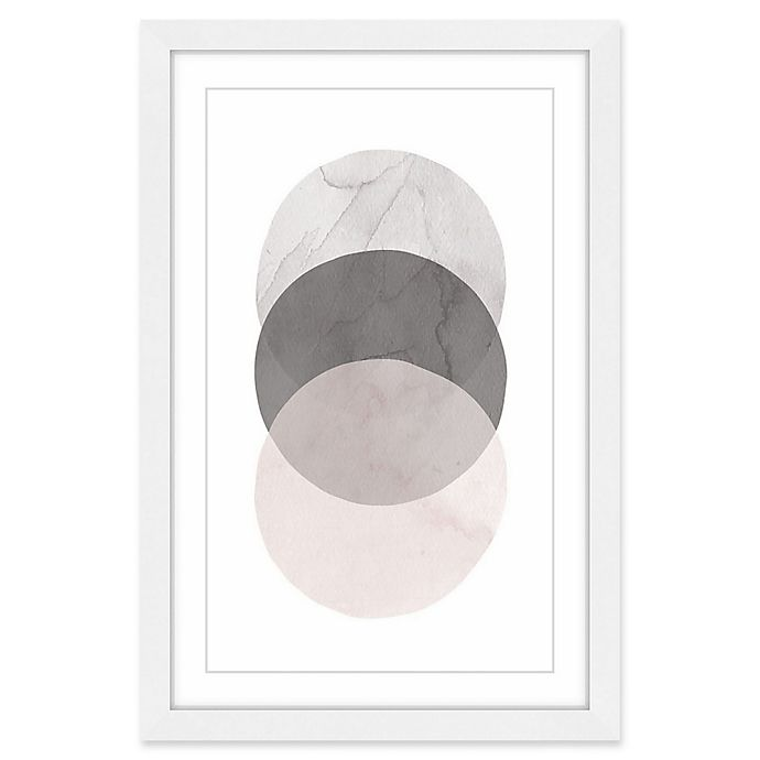 Alternate image 1 for Marmont Hill Three Circles 16-Inch x 24-Inch Framed Wall Art