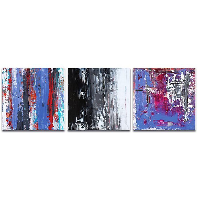 Metal Art Studio Urban Triptych 4 Abstract 3 Piece 70 Inch X