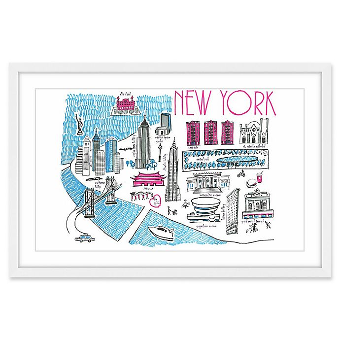 Alternate image 1 for Marmont Hill Chic New York 24-Inch x 16-Inch Wall Art