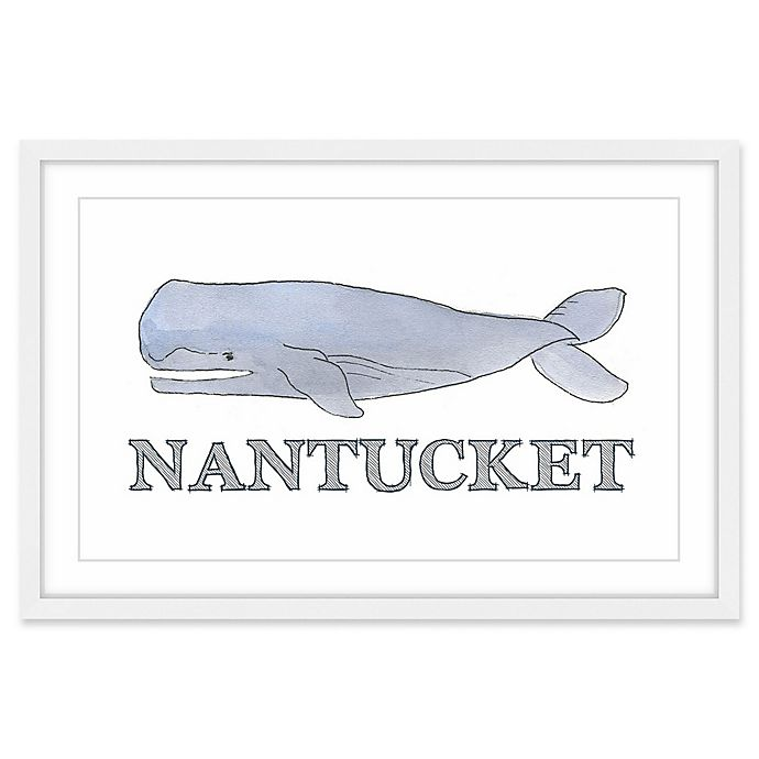 Alternate image 1 for Marmont Hill Come to Nantucket 24-Inch x 16-Inch Framed Wall Art