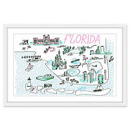 Marmont Hill Florida Isles 18-Inch x 12-Inch Framed Wall Art