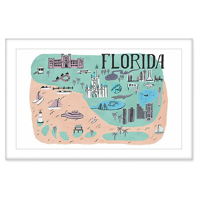 Alternate image 1 for Marmont Hill My Florida Keys II 24-Inch x 16-Inch Framed Wall Art