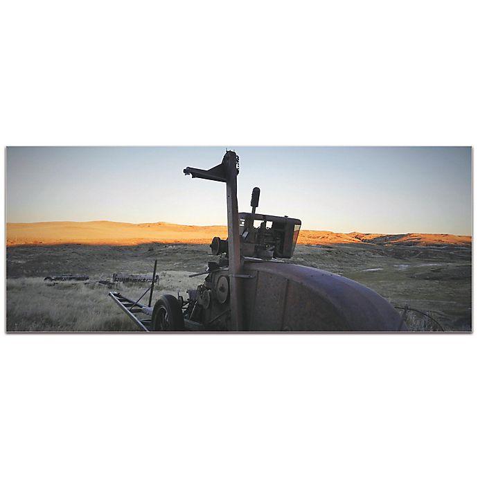 Alternate image 1 for Metal Art Studio Tractor Sunset 48-Inch x 19-Inch Plexiglass Wall Art