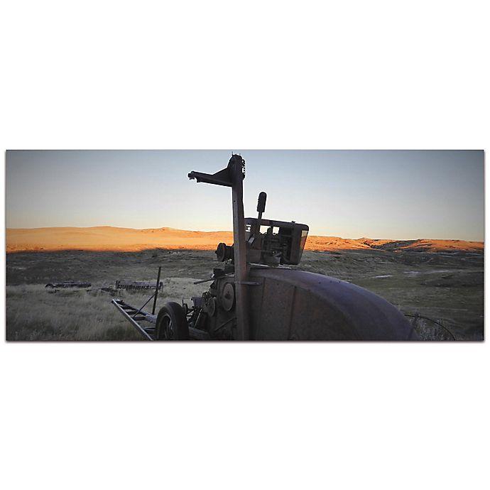 Alternate image 1 for Metal Art Studio Tractor Sunset 48-Inch x 19-Inch Metal Wall Art