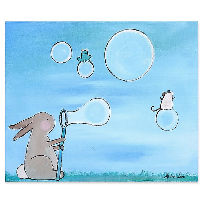 Alternate image 1 for Marmont Hill Bunny Bubbles 36-Inch x 30-Inch Canvas Wall Art