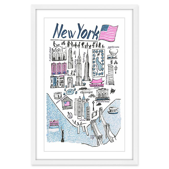 Alternate image 1 for Marmont Hill Patriotic NY 16-Inch x 24-Inch Framed Wall Art