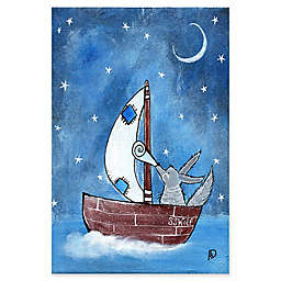 Marmont Hill Bad Wolf's Boat Canvas Wall Art