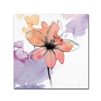 Marmont Hill Watercolor Flower II 14-Inch Square Canvas Wall Art