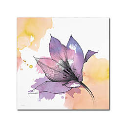 Marmont Hill Watercolor Flower IX 14-Inch Square Canvas Wall Art