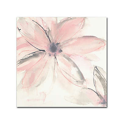 Marmont Hill Blush Clematis II 14-Inch Square Canvas Wall Art