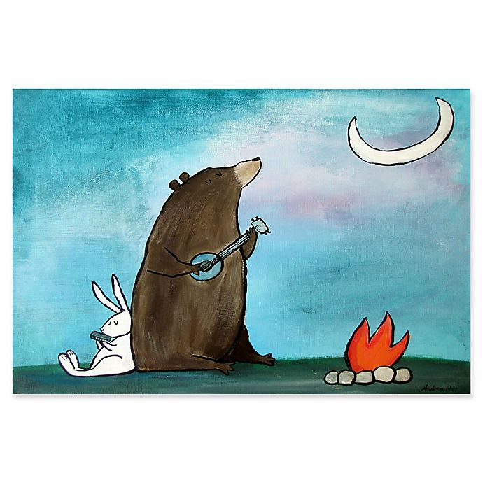Alternate image 1 for Marmont Hill Campfire Songs 24-Inch x 16-Inch Canvas Wall Art