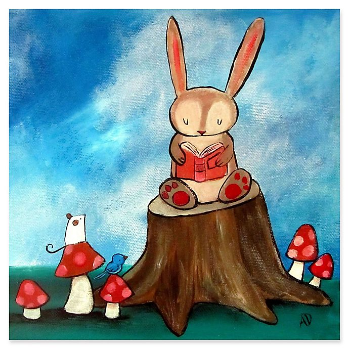 Alternate image 1 for Marmont Hill Bunny Story 24-Inch x 24-Inch Canvas Wall Art