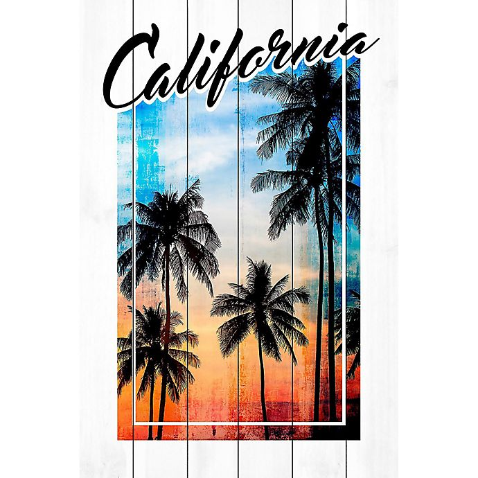 Alternate image 1 for Marmont Hill Cali Palms 24-Inch x 36-Inch Wood Wall Art
