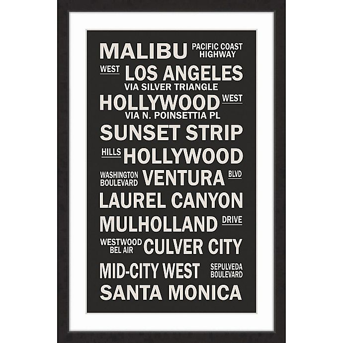 Alternate image 1 for Marmont Hill Cali Sites 16-Inch x 24-Inch Framed Wall Art