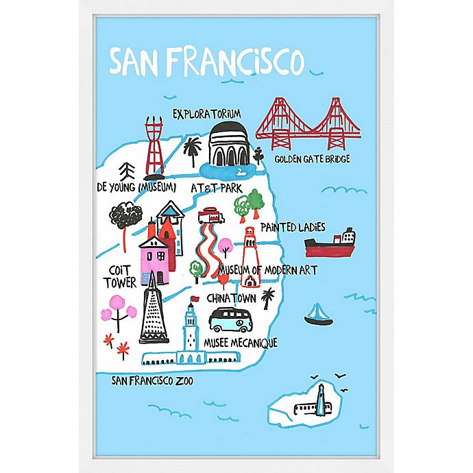 Alternate image 1 for Marmont Hill City by the Bay 16-Inch x 24-Inch Framed Wall Art