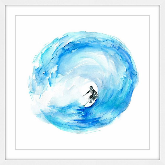 Alternate image 1 for Marmont Hill Surf Wave Loop 12-Inch Square Framed Wall Art