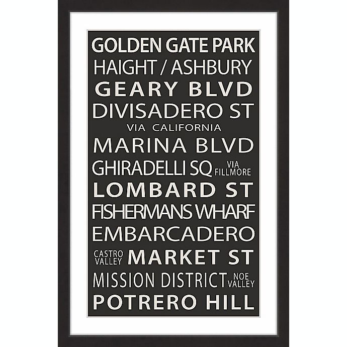 Alternate image 1 for Marmont Hill Golden Gate Park 16-Inch x 24-Inch Framed Wall Art