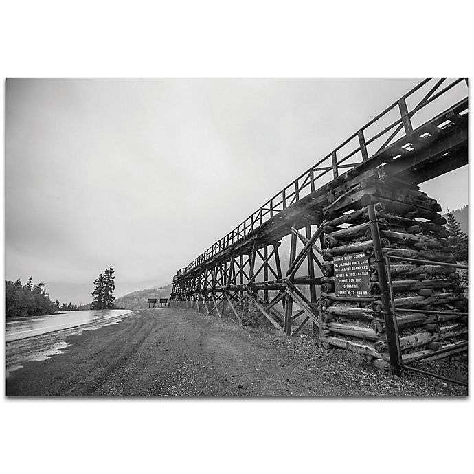 Alternate image 1 for Metal Art Studio Old Railroad Bridge 32-Inch x 22-Inch Metal Wall Art