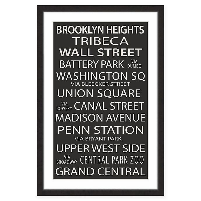 Alternate image 1 for Marmont Hill NY Neighborhoods 16-Inch x 24-Inch Framed Print