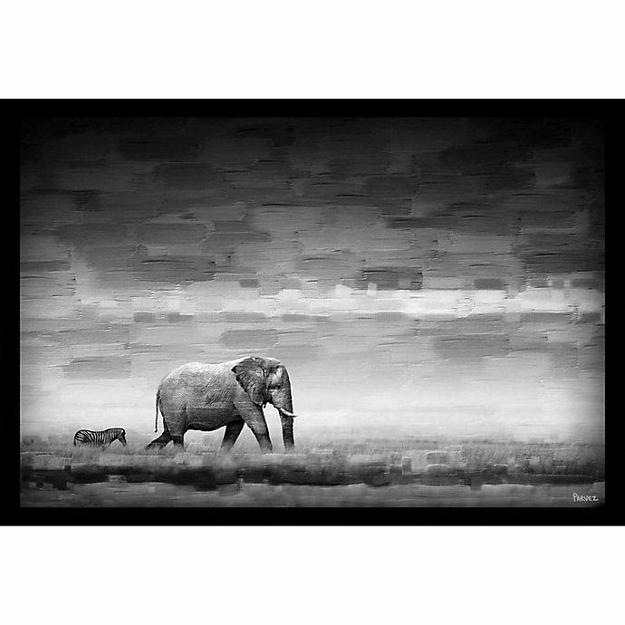 Alternate image 1 for Parvez Taj Elephant 24-Inch x 16-Inch Shadow Box Canvas Wall Art