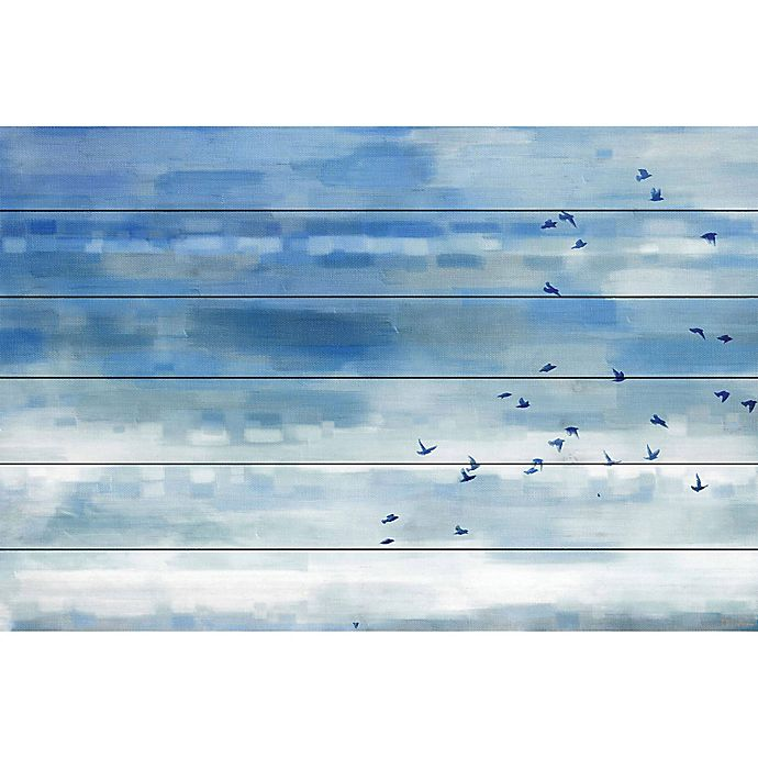 Alternate image 1 for Parvez Taj Blue Sky Birds 36-Inch x 24-Inch Wood Wall Art