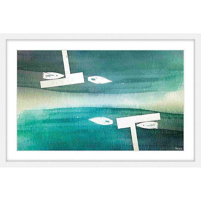 Alternate image 1 for Parvez Taj Fishing Boats 18-Inch x 12-Inch Framed Multicolor Wall Art