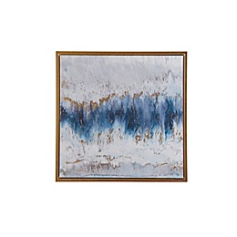 Madison Park Blue Embrace 25.6-Inch Square Framed Canvas Wall Art